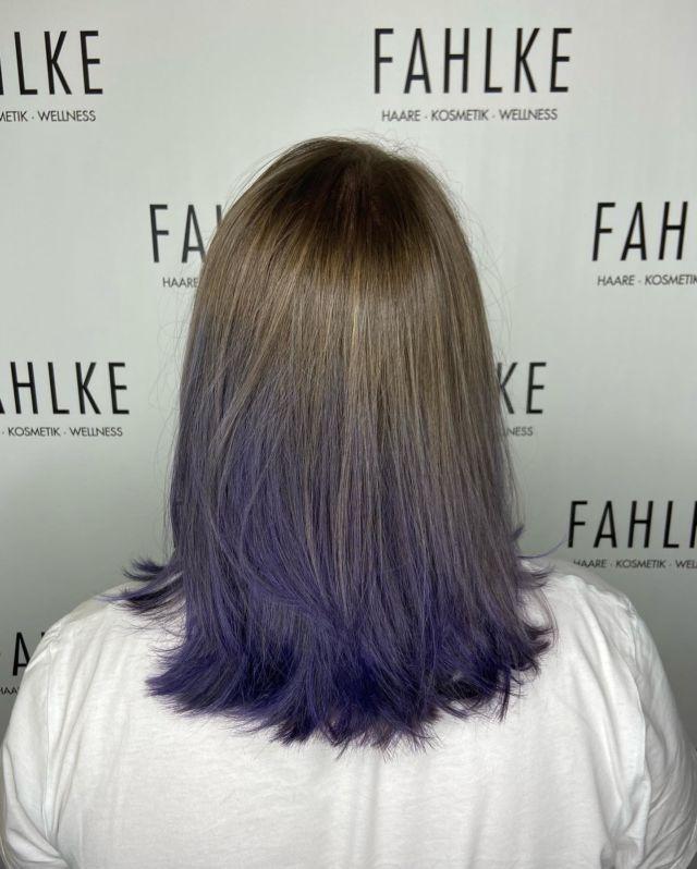 💜 #labiolovesfashion #labiosthetiquecolor #labiosthetiqueparis #lilahair💜 #lilahairdontcare #ombrehair #fahlkegütersloh #salonfahlke #gütersloh #hairstyle